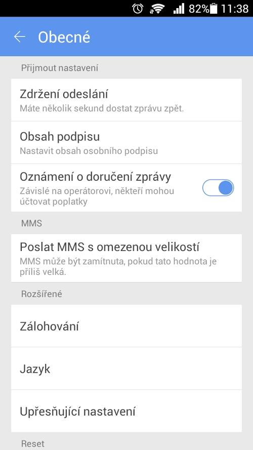 GO SMS Pro Czech package - Aplikacja - Android