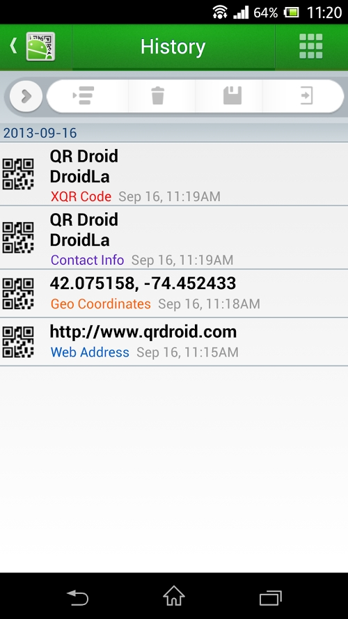 Qr droid code scanner polski aplikacja android - Giga store catalogue ...
