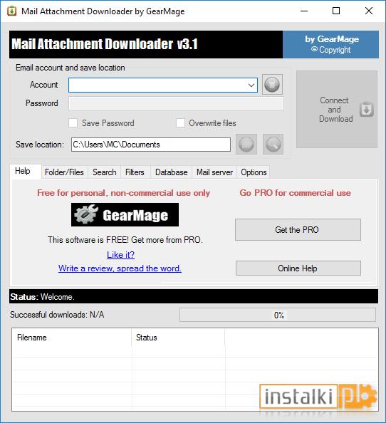 Mail attachment downloader 1.3