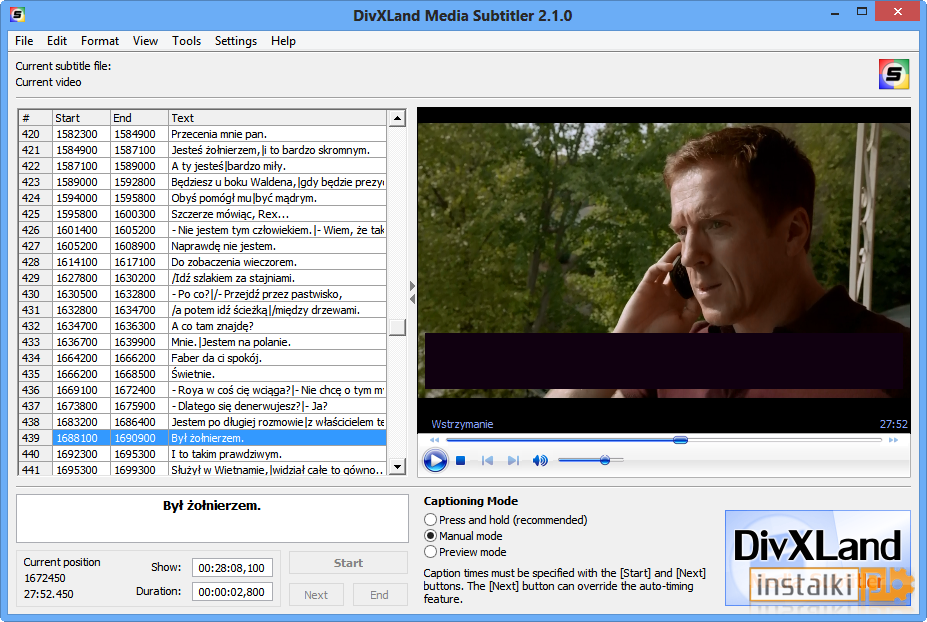 divxland media subtitler 2.0 7 free download