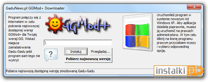 Gg 11 beta download instalki. Pl.