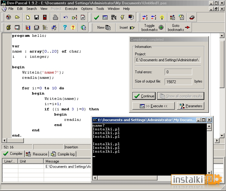 Download Free Dev-Pascal, Dev-Pascal 1.9.2 Download