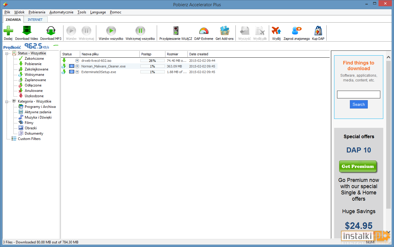 DOWNLOAD 9.5.0.2 INTERNET TÉLÉCHARGER ACCELERATOR