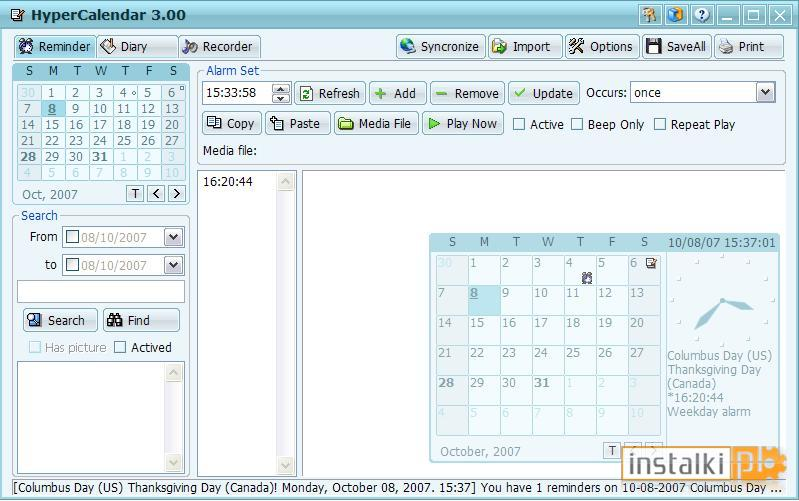 notatnik z kalendarzem online dating