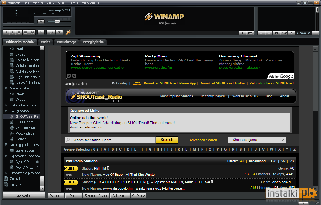 Winamp Full 5.666.3516 - Download - Instalki.pl