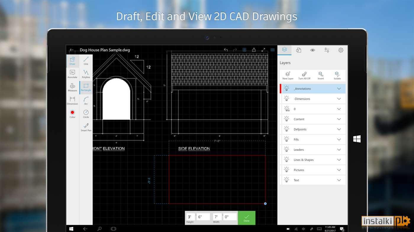 Autocad mobile dwg viewer editor cad drawing tools 4 for Online cad editor