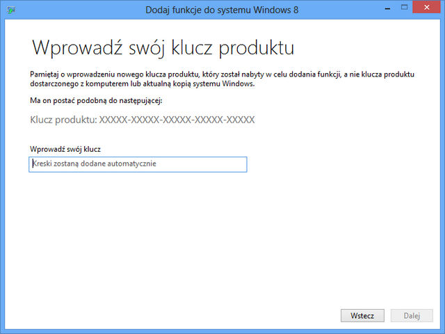 Windows 8 Dodaj funkcje