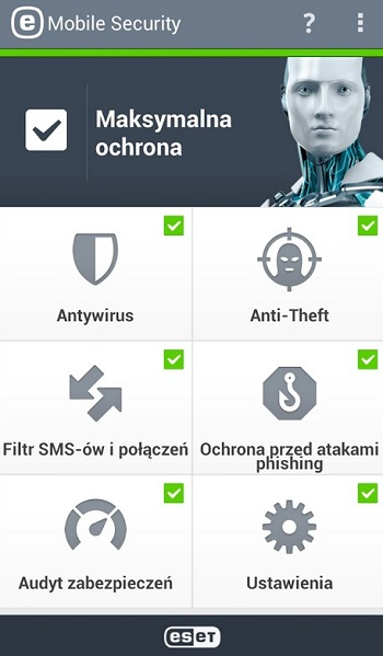 eset mobile security screen