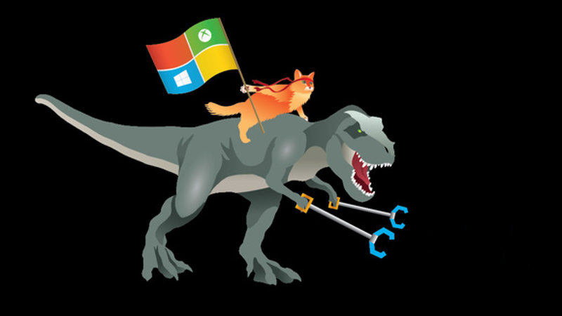 windows cat dino