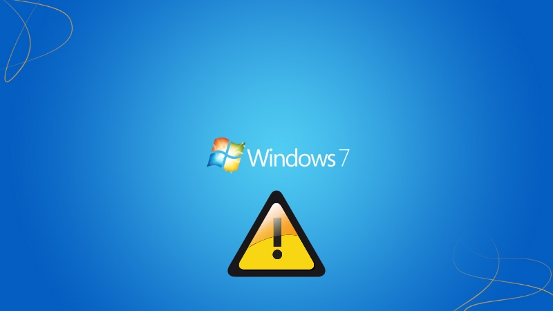 Windows 7 services warn you