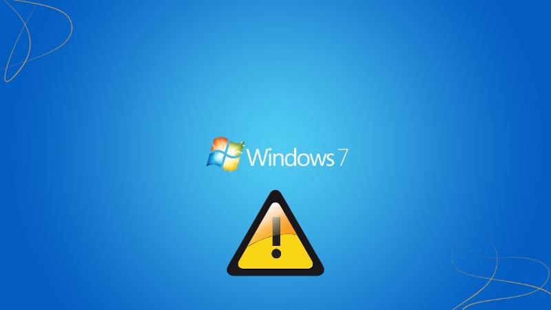 Windows 7 services warn you