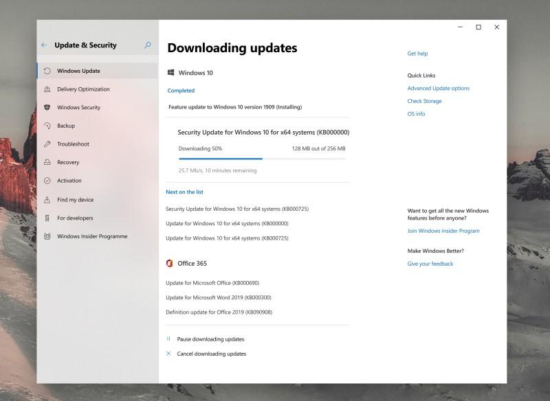 windows update 1 concept