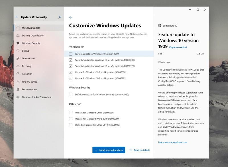 windows update 2 concept