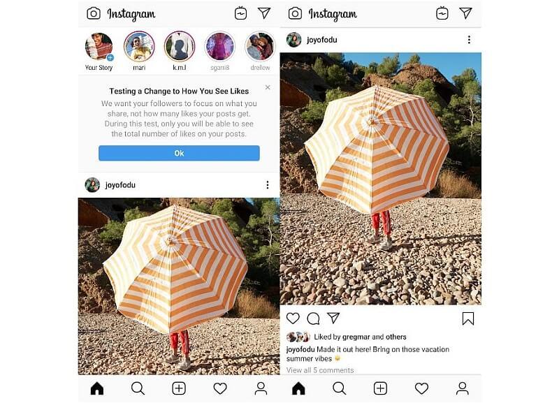 instagram bez polubien