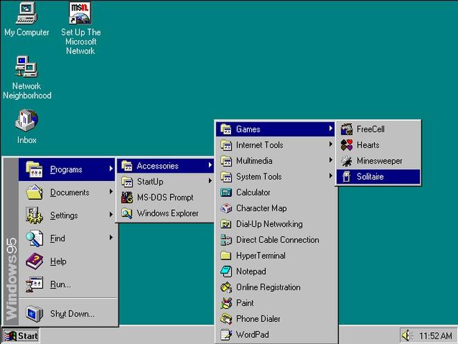 menu start windows 95