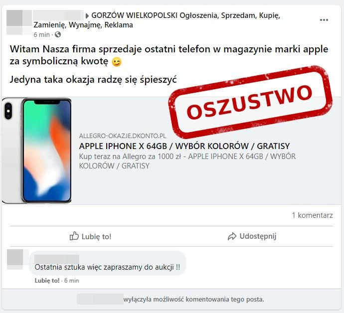Iphone Za 1000 Zl Z Allegro Uwazaj To Oszustwo Instalki Pl