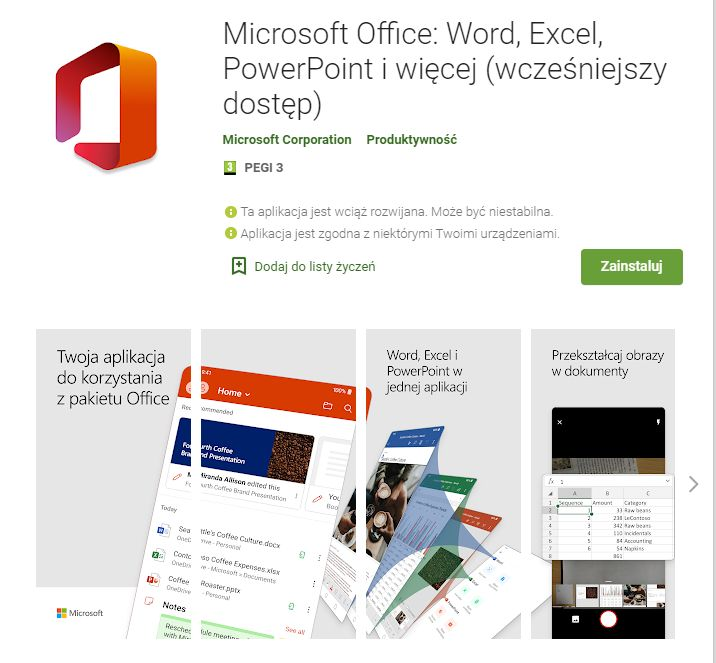 office for android 4
