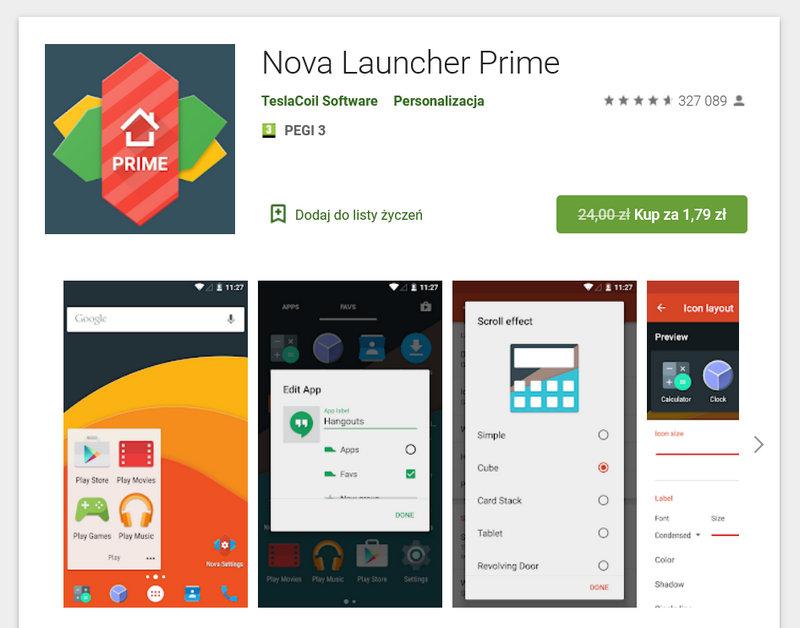 Nova Launcher Prime in promotion
