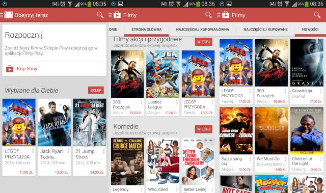 filmy google play android
