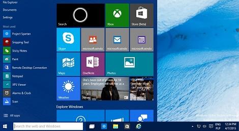 Windows 10 Menu Start