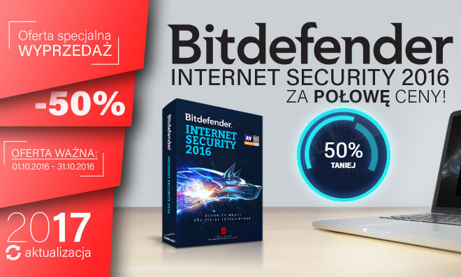 Bitdefender Internet Security 2016 za pół ceny
