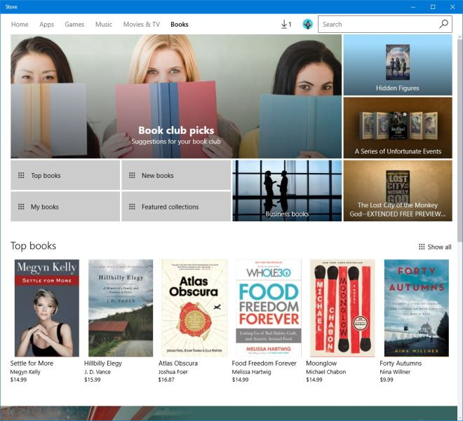 Windows 10 Insider Preview Build 15014 Books
