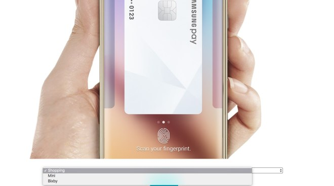 samsung pay bixby
