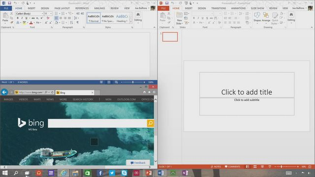 Windows 10 snap enhancements