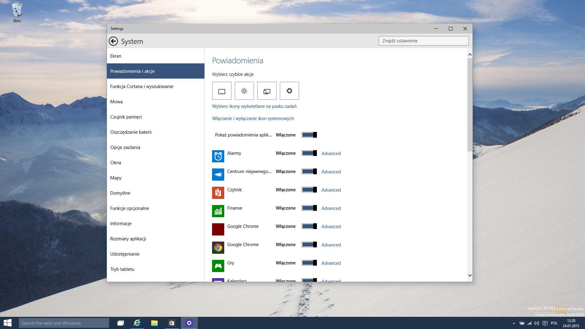 Windows 10 build 9926: pierwsze wrażenia i galeria - Str ...