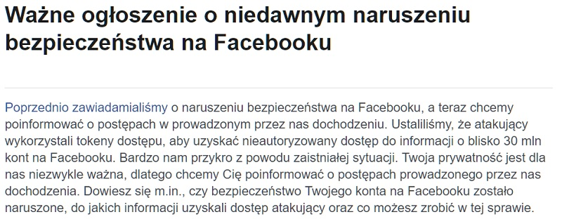 facebook naruszenie bezpieczenstwa
