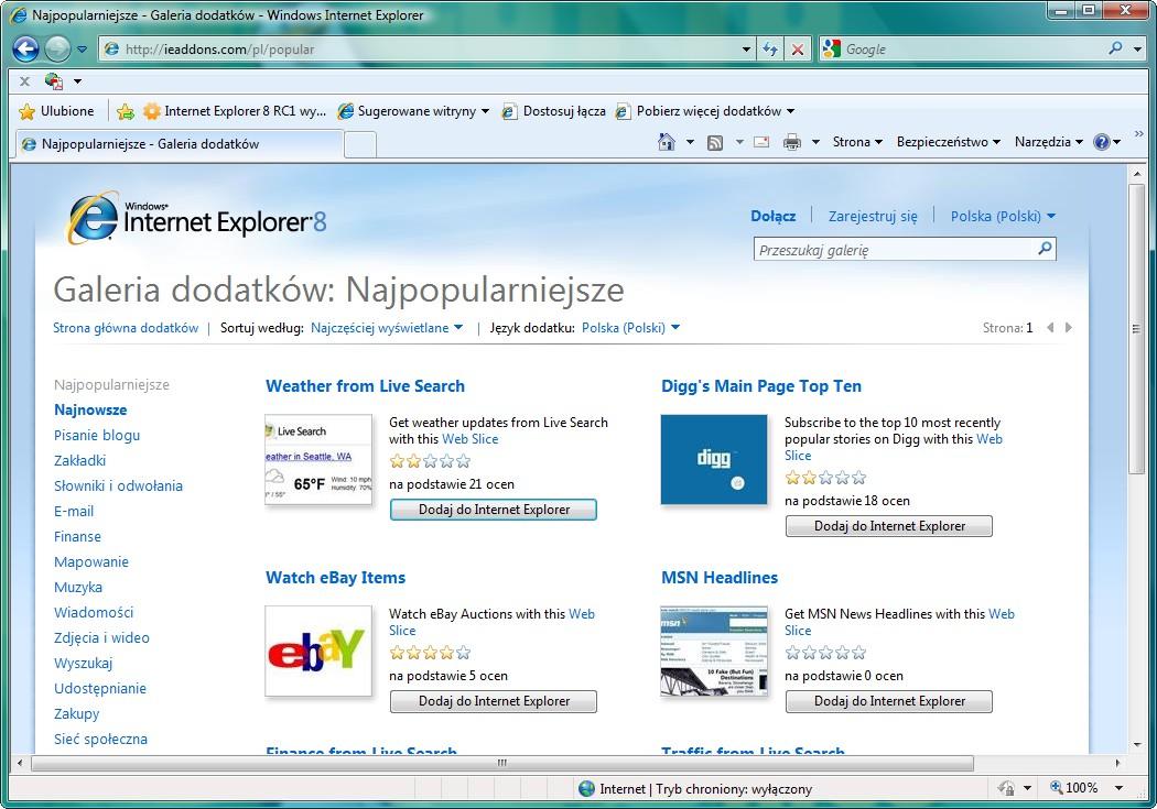 Internet Explorer 8 RC1 wydany - Instalki.pl